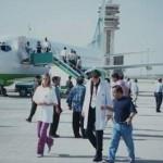 En irak à la descente de l'avion