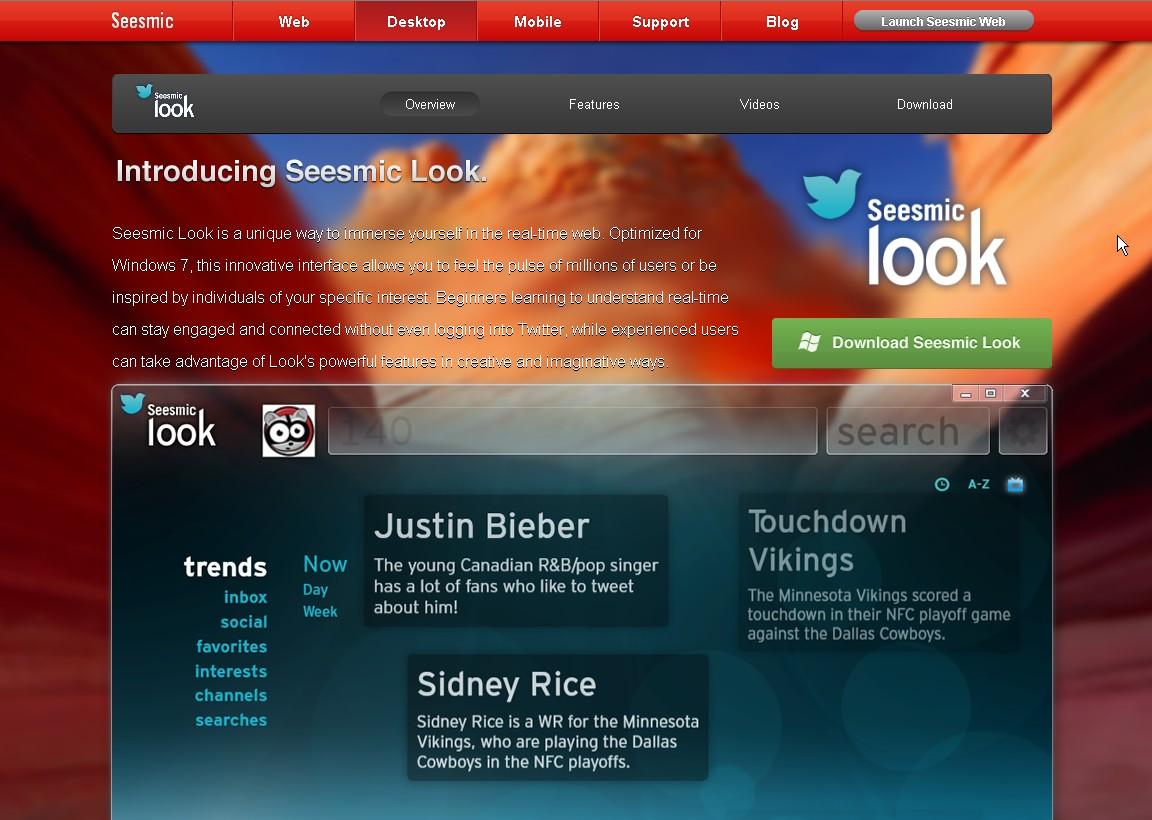 seesmic look pour twitter, reseaux sociaux et web en temps reel